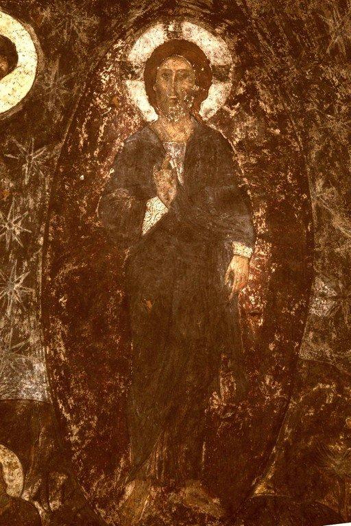 Преображение Господне. Фреска пещерного монастыря Вардзиа (Вардзия), Грузия. XII век. Фрагмент.