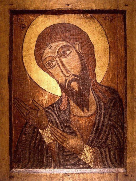 Святой Пророк Иона. Сванская икона. Музей истории и этнографии Сванетии, Местия, Грузия.