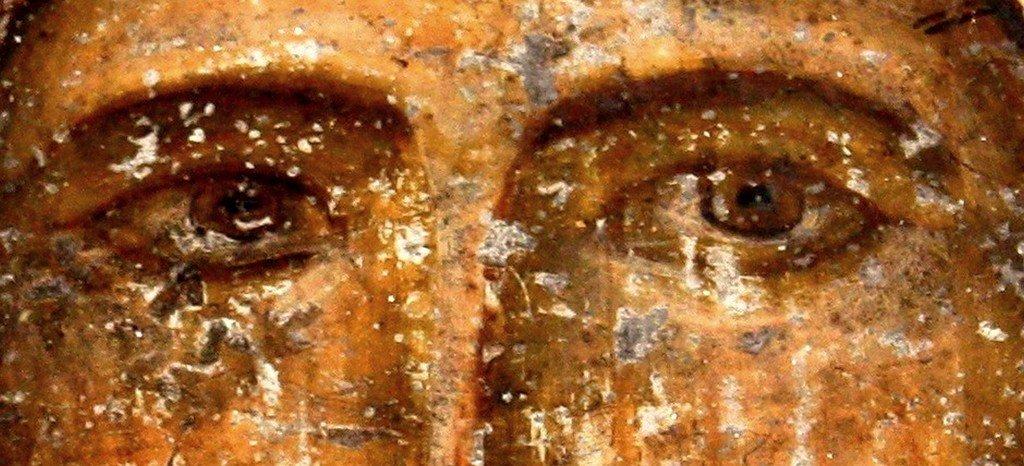 Спас Нерукотворный. Фреска пещерного монастыря Вардзиа (Вардзия), Грузия. До 1185 года.