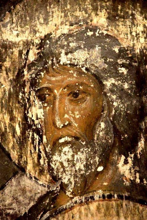 Лик Святого. Фреска пещерного монастыря Вардзиа (Вардзия), Грузия. До 1185 года.