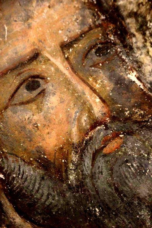 Лик. Фреска пещерного монастыря Вардзиа (Вардзия), Грузия. До 1185 года.