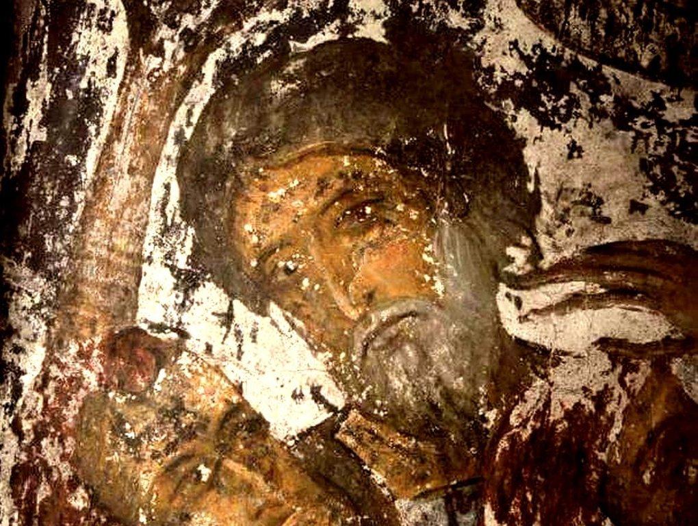 Лики Апостолов. Фреска пещерного монастыря Вардзиа (Вардзия), Грузия. До 1185 года.