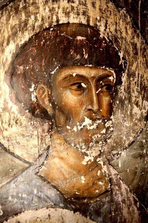 Святой Апостол и Евангелист Лука. Фреска пещерного монастыря Вардзиа (Вардзия), Грузия. До 1185 года.