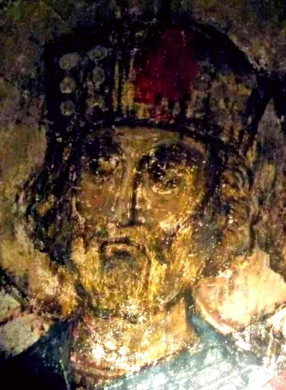 Святой Пророк Царь Давид. Фреска пещерного монастыря Вардзиа (Вардзия), Грузия. До 1185 года.