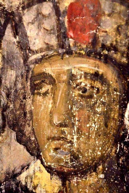 Святой Пророк Царь Соломон. Фреска пещерного монастыря Вардзиа (Вардзия), Грузия. До 1185 года.