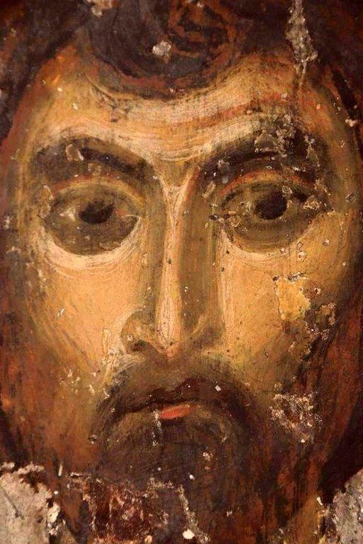 Лик Святого Воина. Фреска пещерного монастыря Вардзиа (Вардзия), Грузия. До 1185 года.