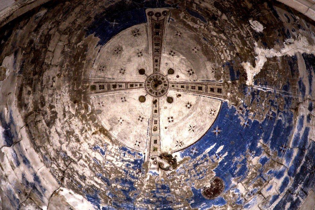Вознесение Святого Креста. Фреска купола храма монастыря Хахули, Тао-Кларджети.