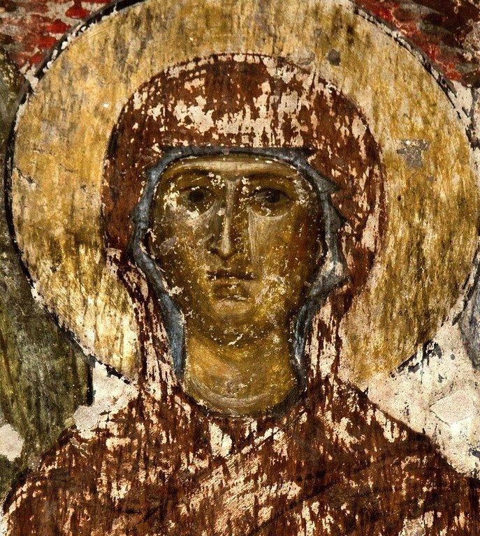 Вознесение Господне. Фреска пещерного монастыря Вардзиа (Вардзия), Грузия. До 1185 года. Фрагмент.