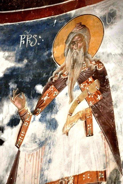 Святой Пророк Самуил. Фреска церкви Святого Георгия в монастыре Гелати, Грузия. XVI век.
