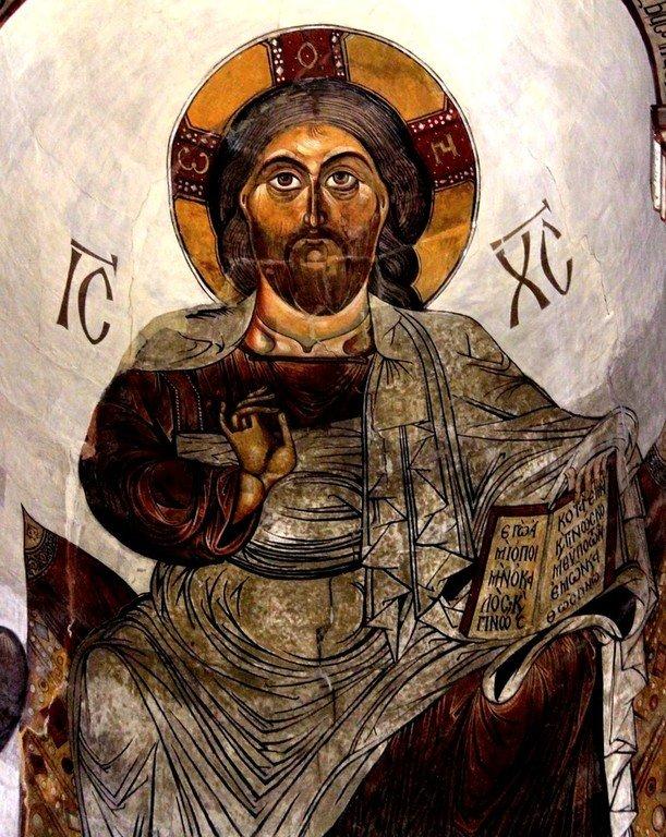 Христос на престоле. Фреска собора Светицховели во Мцхета, Грузия. XIX век (по контуру XI века).