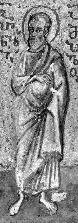 Святой Апостол от Семидесяти Апеллий. Миниатюра греко-грузинской рукописи XV века.