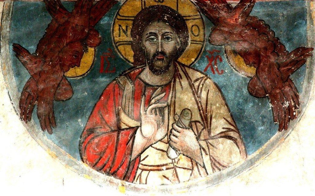 Христос Пантократор. Фреска собора Светицховели во Мцхета, Грузия.
