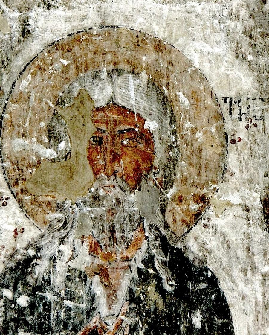 Святой Пророк Божий Илия. Фреска храма Атени Сиони (Атенский Сион), Грузия. 1080 год.