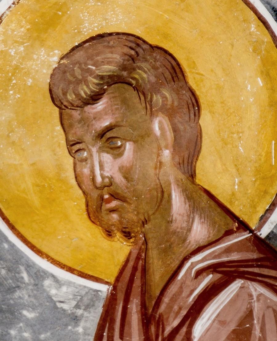 Преображение Господне. Фреска церкви Святого Георгия в монастыре Гелати, Грузия. 1561 - 1578 годы. Фрагмент. Святой Пророк Моисей Боговидец.