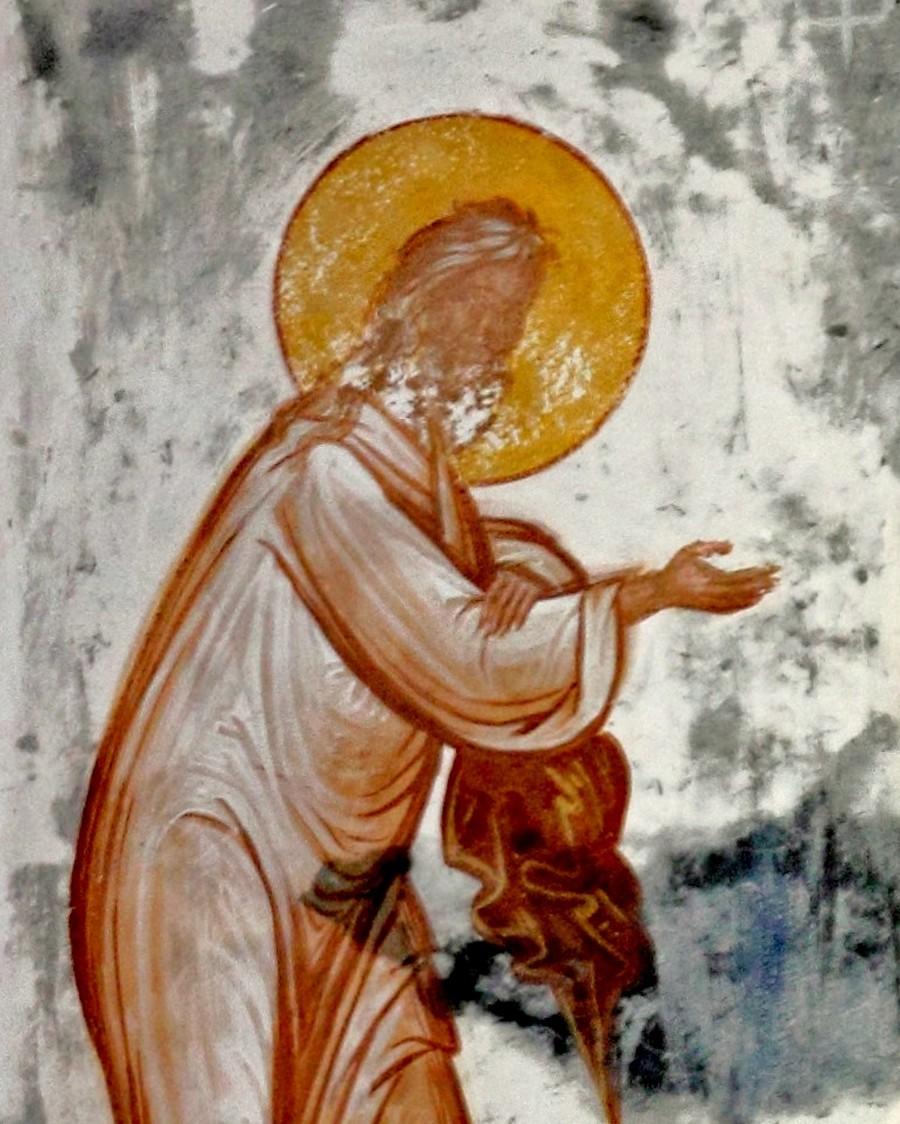 Преображение Господне. Фреска церкви Святого Георгия в монастыре Гелати, Грузия. 1561 - 1578 годы. Фрагмент. Святой Пророк Божий Илия.