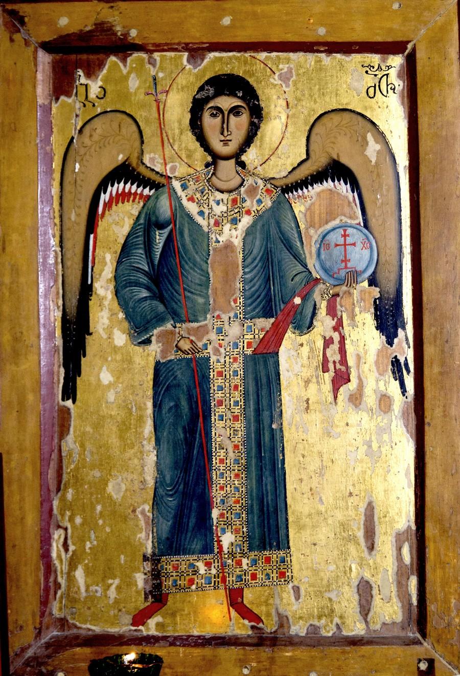 Архангел Гавриил. Грузинская икона XIV века. Сванетия.