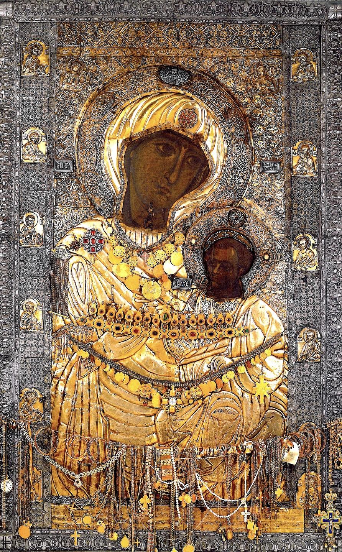 Чудотворная Иверская икона Божией Матери. Монастырь Иверон на Афоне.