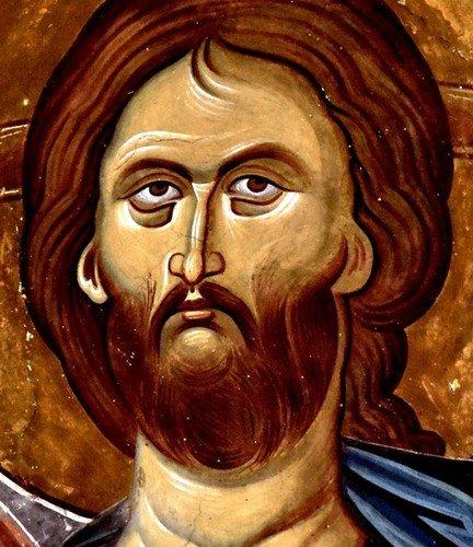 Лик Спасителя. Фреска церкви Святого Георгия в монастыре Убиси, Грузия. Середина - вторая половина XIV века.