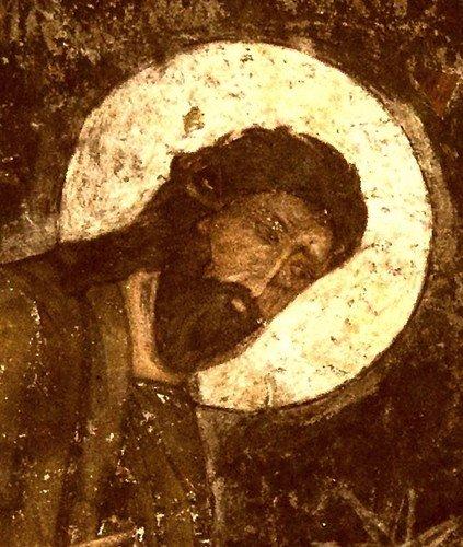 ПРЕОБРАЖЕНИЕ ГОСПОДНЕ. Фреска пещерного монастыря Вардзиа (Вардзия), Грузия. XII век.