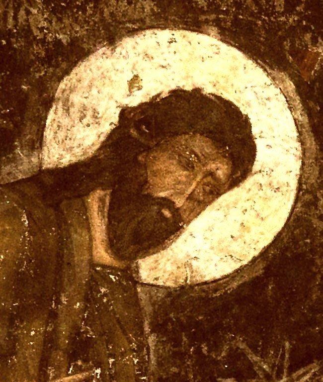 Преображение Господне. Фреска пещерного монастыря Вардзиа (Вардзия), Грузия. XII век. Фрагмент. Святой Пророк Божий Илия.