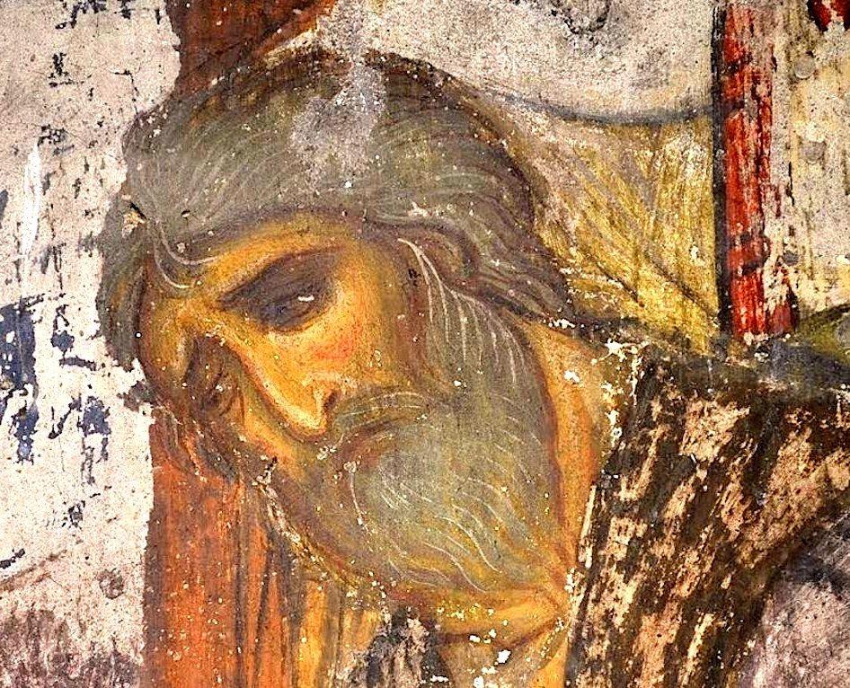 Успение Пресвятой Богородицы. Фреска пещерного монастыря Вардзиа (Вардзия), Грузия. XII век. Фрагмент.