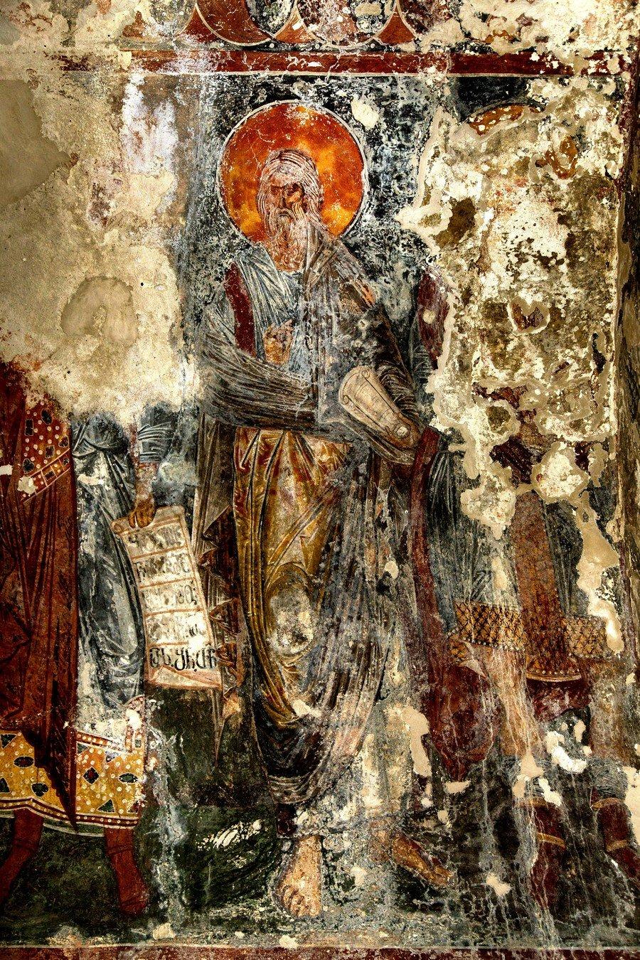 Ветхозаветный Пророк. Фреска придела Святого Андрея собора Рождества Пресвятой Богородицы в монастыре Гелати, Грузия. Последняя четверть XIII века.