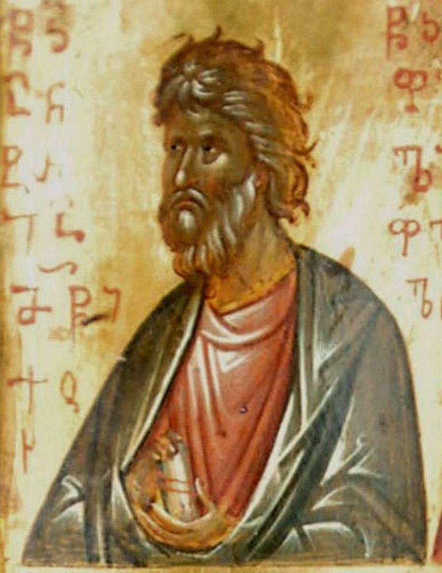 Святой Апостол Андрей Первозванный. Фрагмент грузинской иконы. Монастырь Святой Екатерины на Синае.