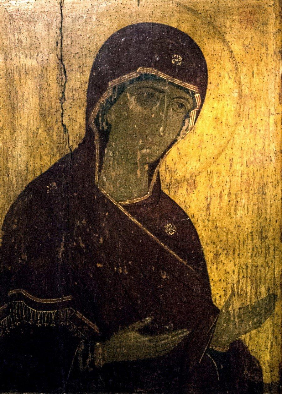 Пресвятая Богородица. Икона из деисиса монастыря Убиса (Убиси). Грузия, XIV век.
