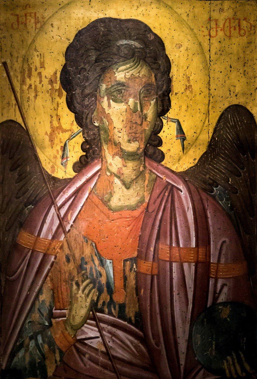 Архангел Михаил. Икона из деисиса монастыря Убиса (Убиси). Грузия, XIV век.