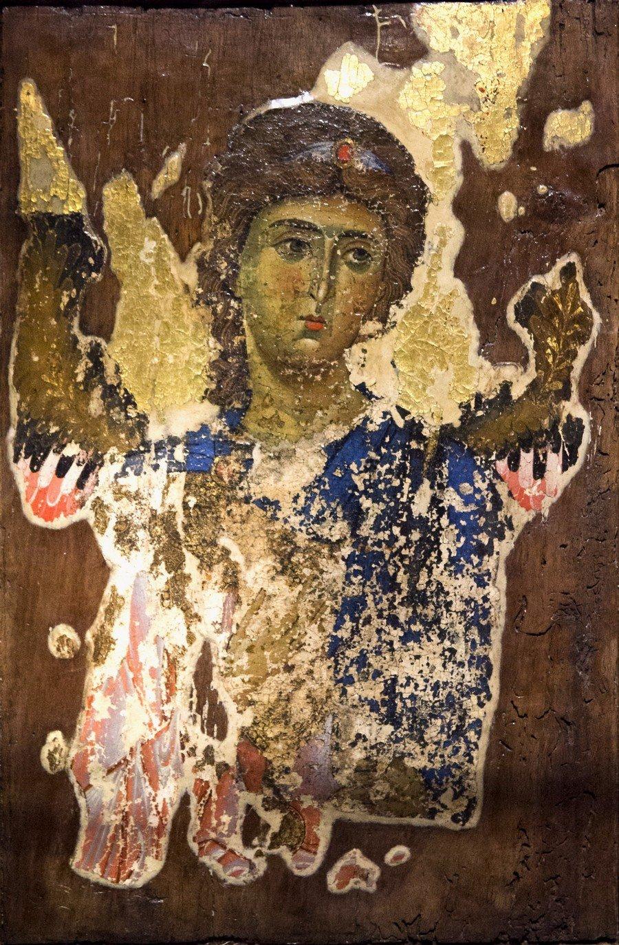 Архангел. Грузинская икона XII - XIII века.