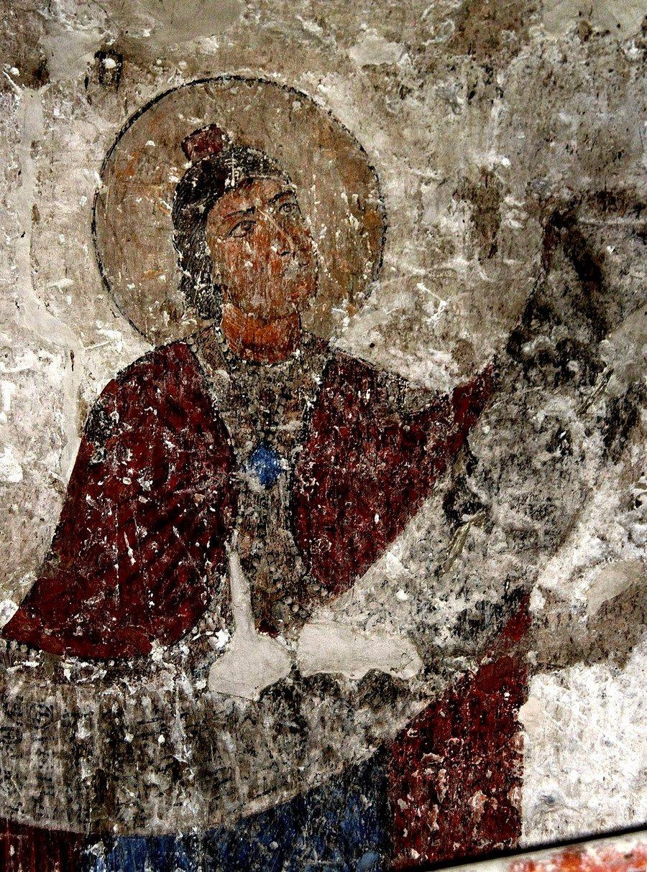 Святой Пророк Даниил. Фреска храма Атени Сиони, Грузия. 1080 год.