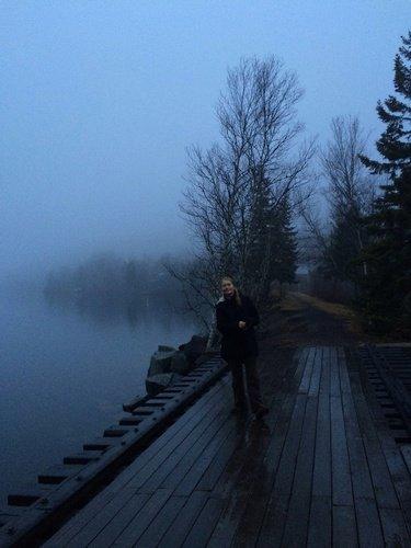 На туманном берегу залива Фанди в Канаде