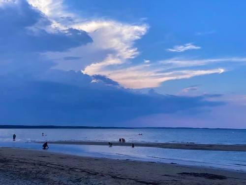 Вечер на пляжах Нортамберленда
