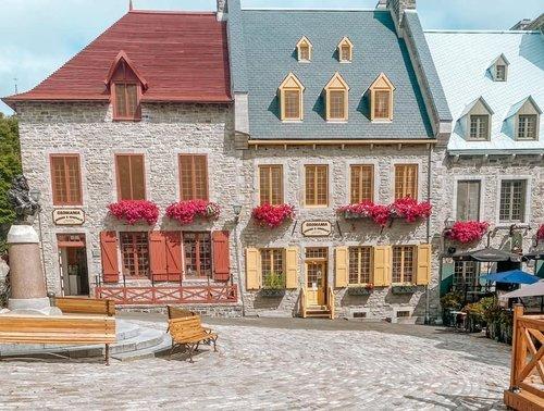 Цветные домики Квебека