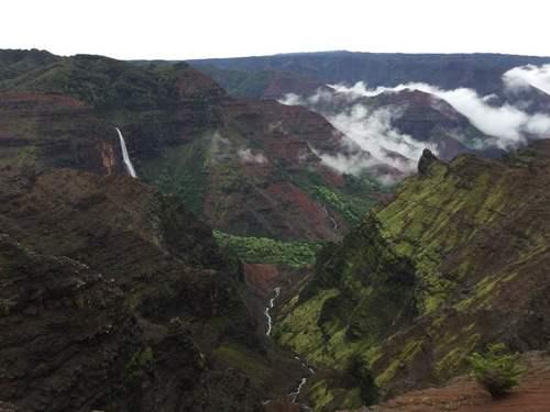 Мокрый гавайский остров Кауаи