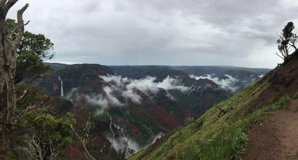 Кауаи. Остров, укрытый облаками.