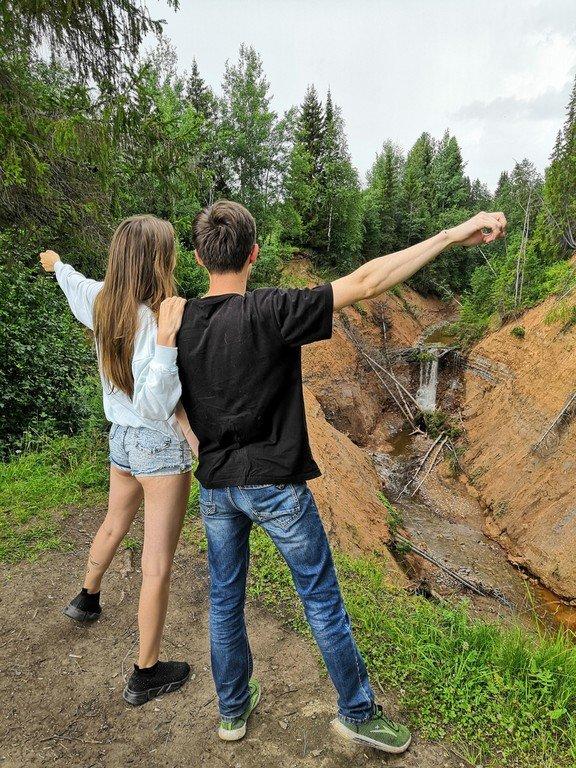 Светик и водопад