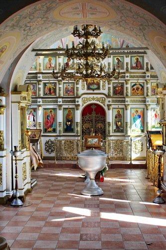 Интерьер Никольской церкви в Стрелково