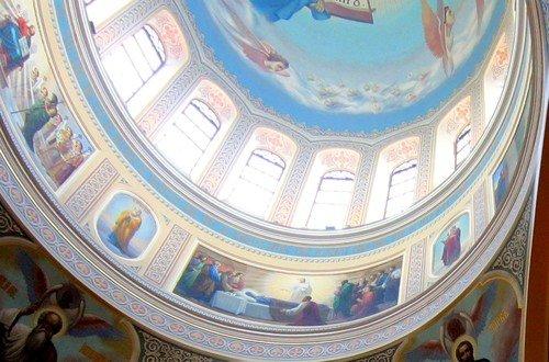 Роспись купола собора Рождества Пресвятой Богородицы. Ростов-на-Дону.