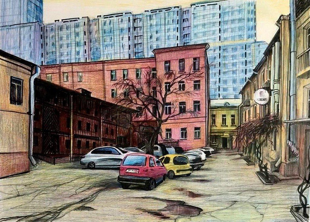 Ольга Петровна Соболева (род. в 1963 году). Городской пейзаж.
