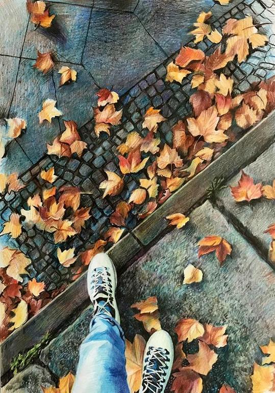 Ольга Петровна Соболева (род. в 1963 году). Осень под ногами.