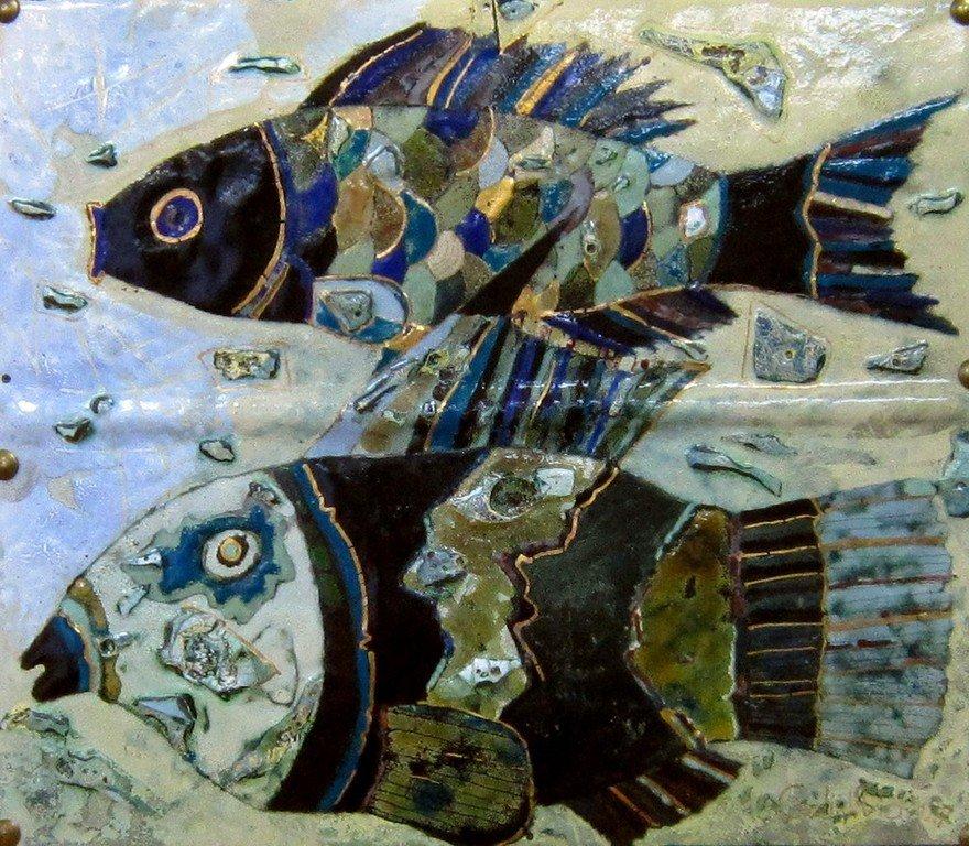 Лиховид Георгий Иванович. Две рыбы.