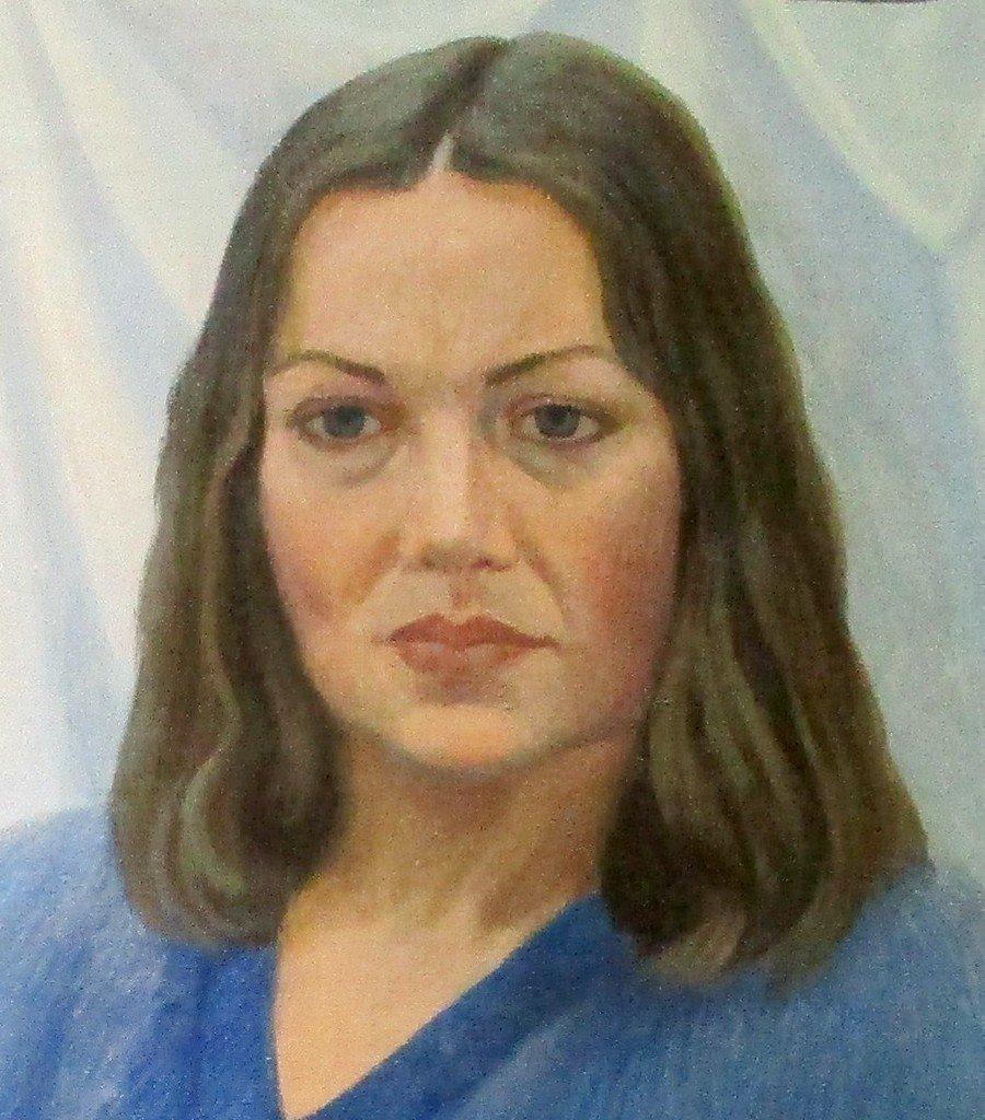 И. П. Вольвич. Портрет художницы Людмилы Ивановой. 1986 год.