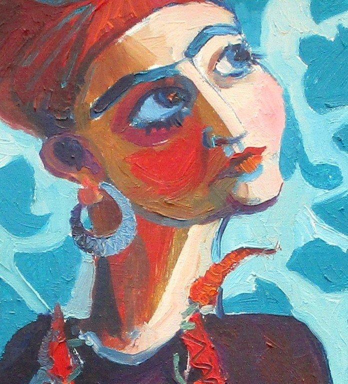 Г. Г. Чернявская. Девушка с перчиками. 2015 год.
