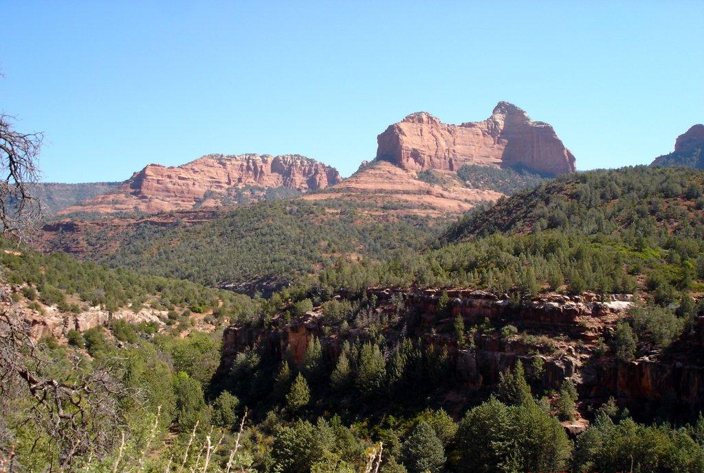 Аризона. Скалы у городка Седона.