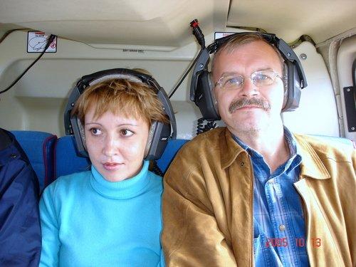 Над Гранд-каньоном. В кабине вертолёта.