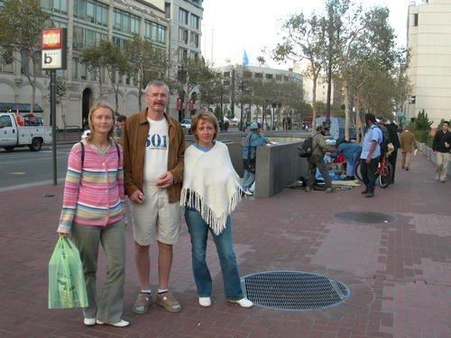 Сан-Франциско. Рыночек бомжей на Маркет-стрит.