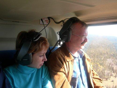 В вертолете над Гранд-каньоном
