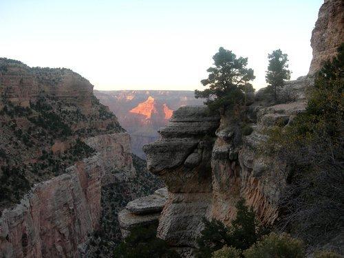 Голова индейского вождя в Гранд-каньоне