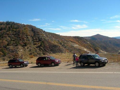 Штат Колорадо. Весь наш автопоезд на привале.